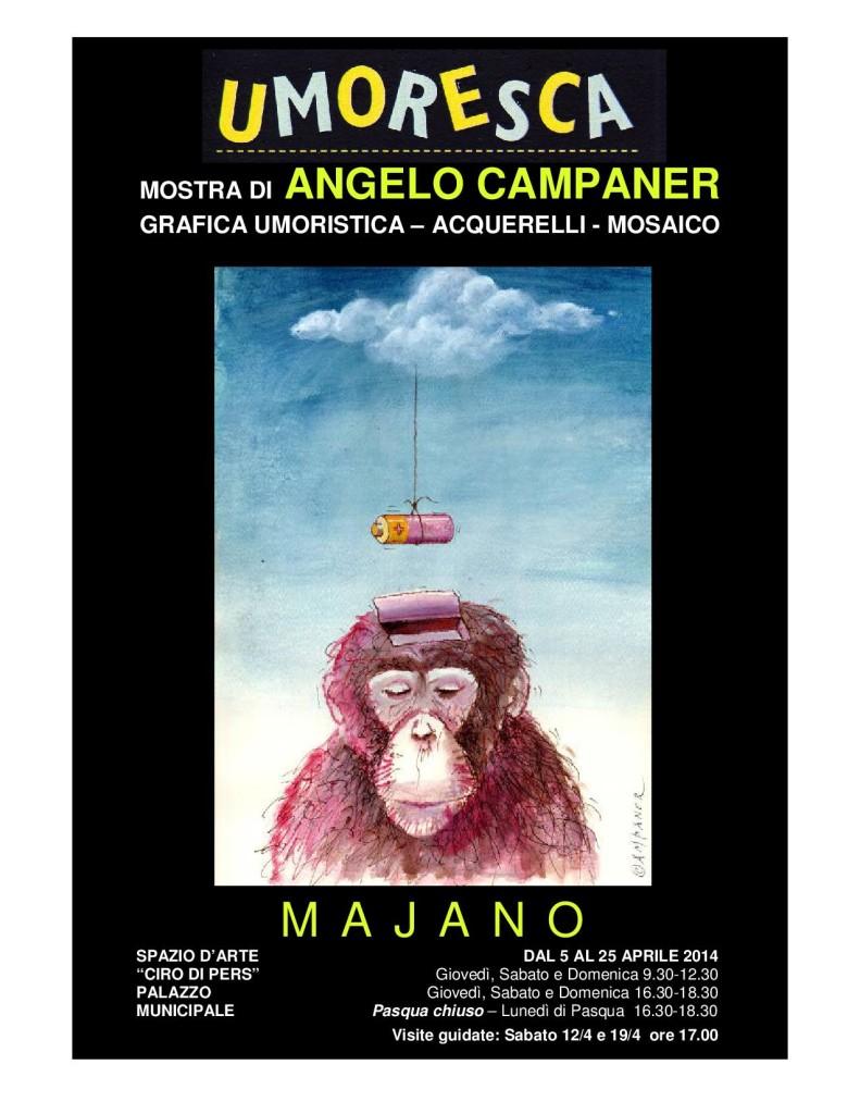 UMORESCA, ANGELO CAMPANER – dal 5 al 25 aprile 2014