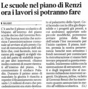 La notizia che non ti aspetti! Il progetto scuole rientra nel Piano Renzi