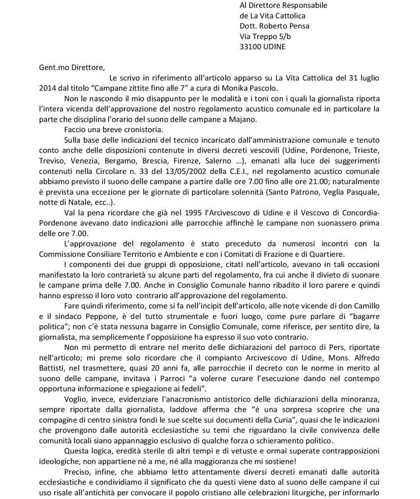 A PROPOSITO DEL REGOLAMENTO ACUSTICO..
