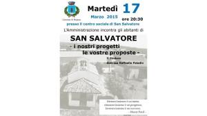 LO SCORSO 17 MARZO L'INCONTRO CON LA FRAZIONE DI SAN SALVATORE
