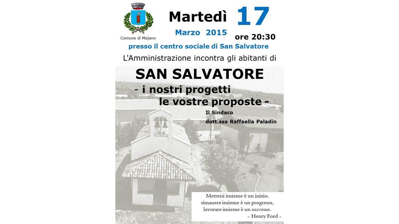 L'amministrazione incontra i cittadini di San Salvatore