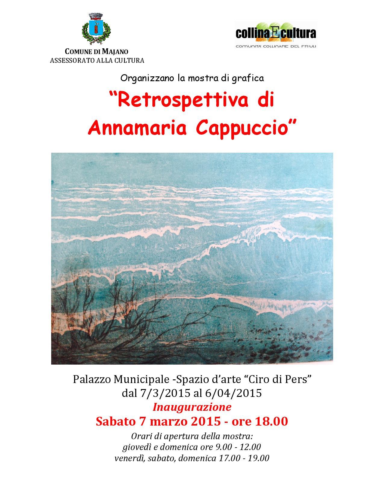 """""""RETROSPETTIVA"""" DI ANNAMARIA CAPPUCCIO ANCHE SU YOUTUBE"""
